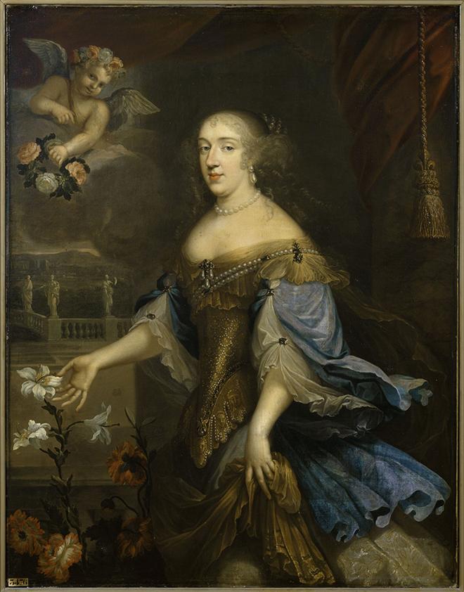 Anne Marie Louise d'Orleans, Mademoiselle de Montpensier dite La Grande Mademoiselle, peinture attribuée à Gilbert de Sève, entre 1662 et 1700. Château de Versailles