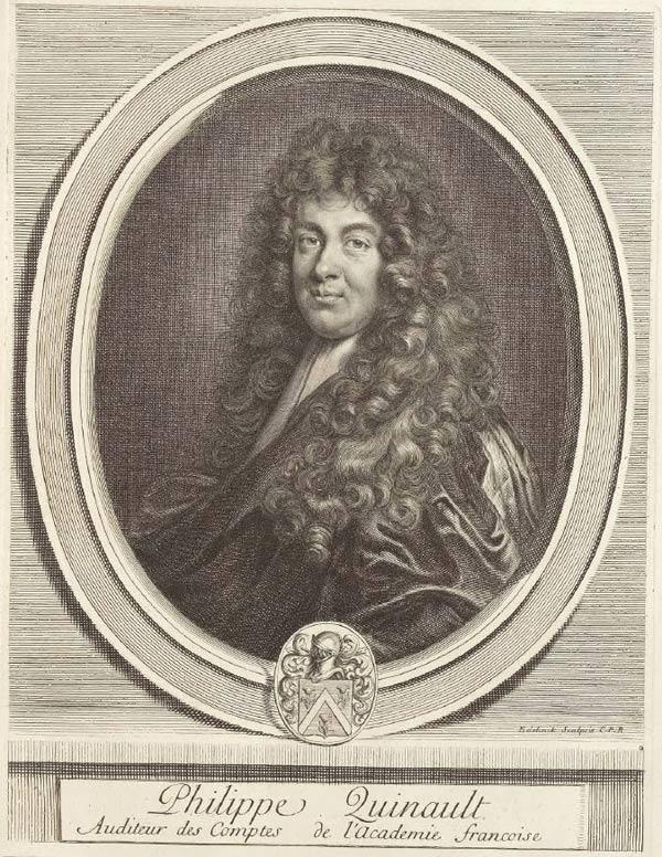 Portrait de Philippe Quinault par Charles Perrault 1696 ©BnF