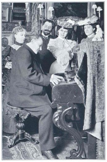 Massenet lisant sa partition de Cigale à ses interprètes © Gallica-BnF