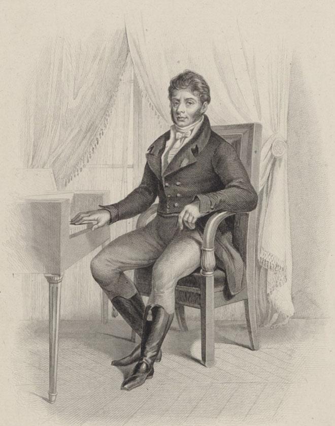 Étienne-Nicolas Méhul, gravure de Leclerc d'après un dessin de Guilleminot © Gallica-BnF