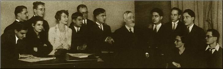 La classe de Paul Dukas en 1939, Messiaen est tout à droite © DR