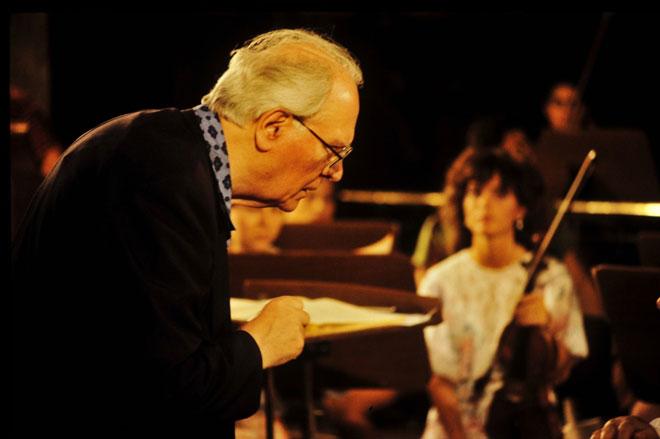 Daniel Cande, Olivier Messiaen, Festival d'Avignon, 1987 © Gallica-BnF