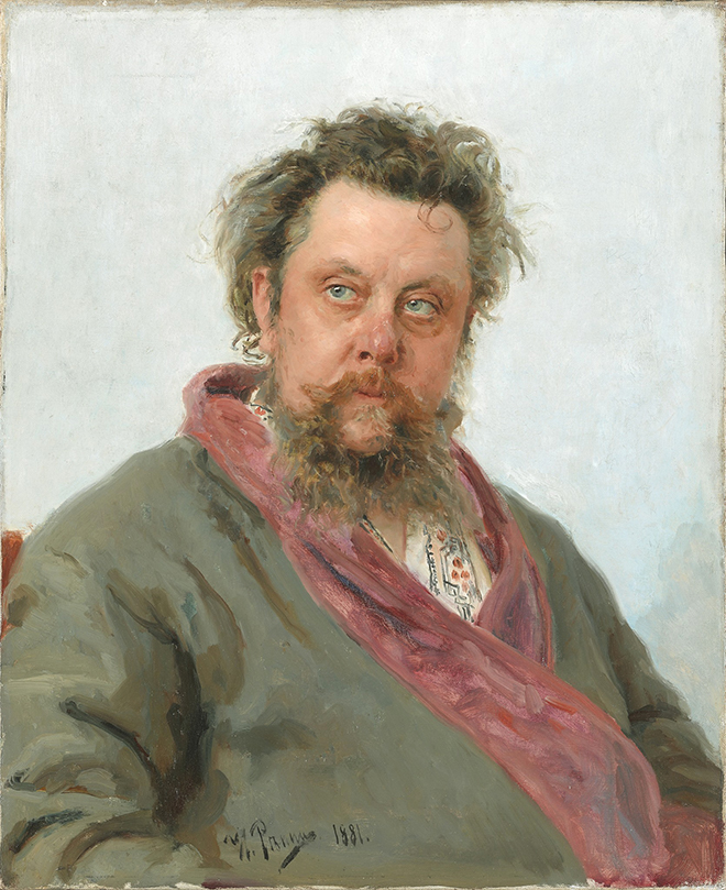 Modest Moussorgski, par Ilyan Repin, 1881, Tretyakov Gallery (Moscou)
