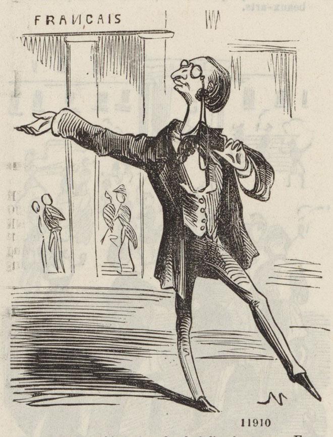 Offenbach donnant sa démission de chef d'orchestre au Théâtre-Français © Gallica-BnF