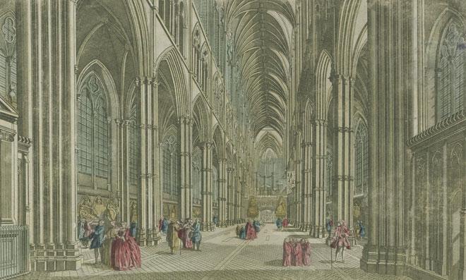 L'intérieur de l'Abbaye de Westminster, 1790 © Gallica-BnF