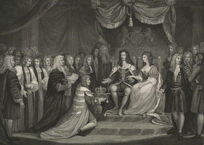 The Revolution, 1688 (Guillaume III et Mary II), par James Parker © National Portrait Gallery, London
