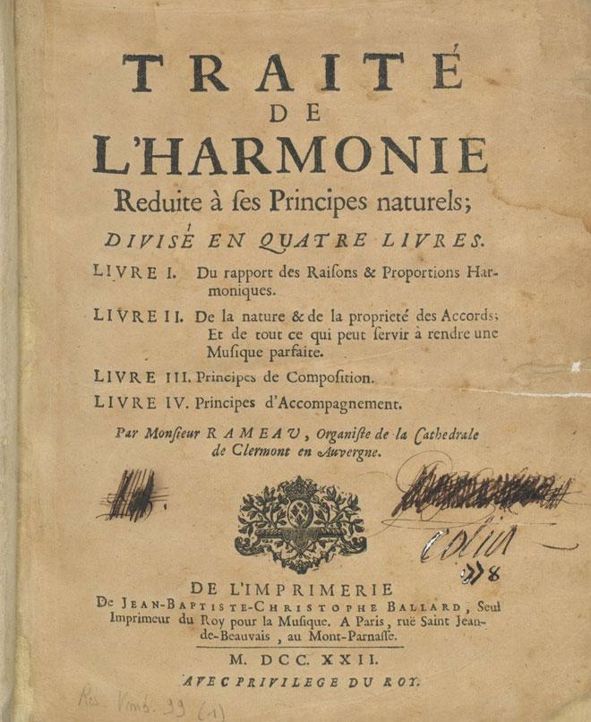 Traité de l'Harmonie réduite à ses principes essentiels © Gallica-BnF