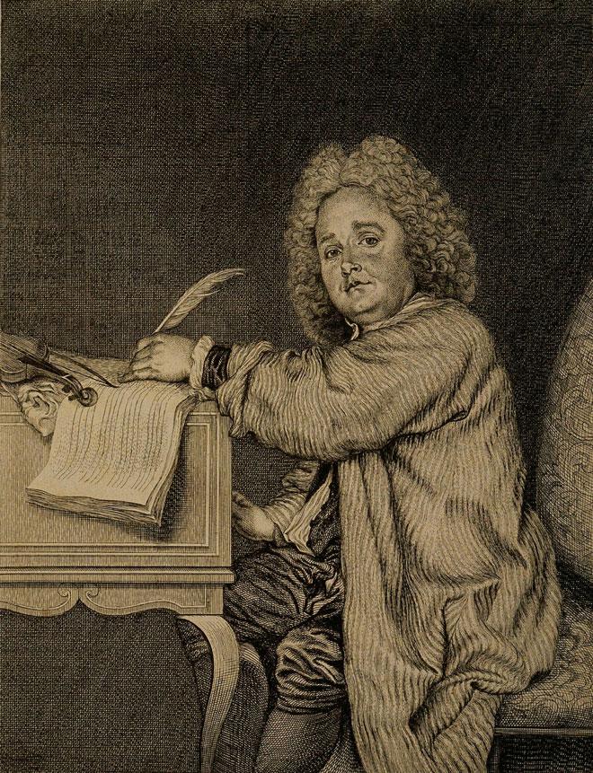 Portrait de Jean-Féry Rebel, par Jean Moyreau, 1718 © Philharmonie de Paris, J.-M. Angles