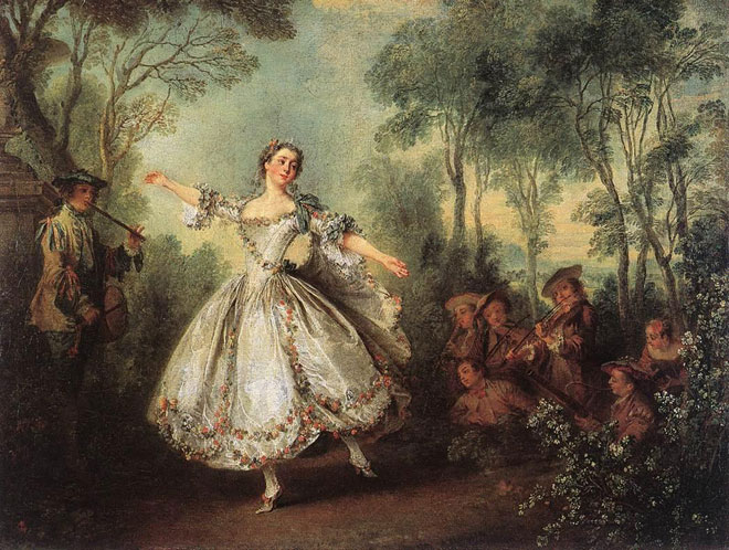 Nicolas Lancret, Mademoiselle de Camargo dansant, 1730 © Wallace Collection