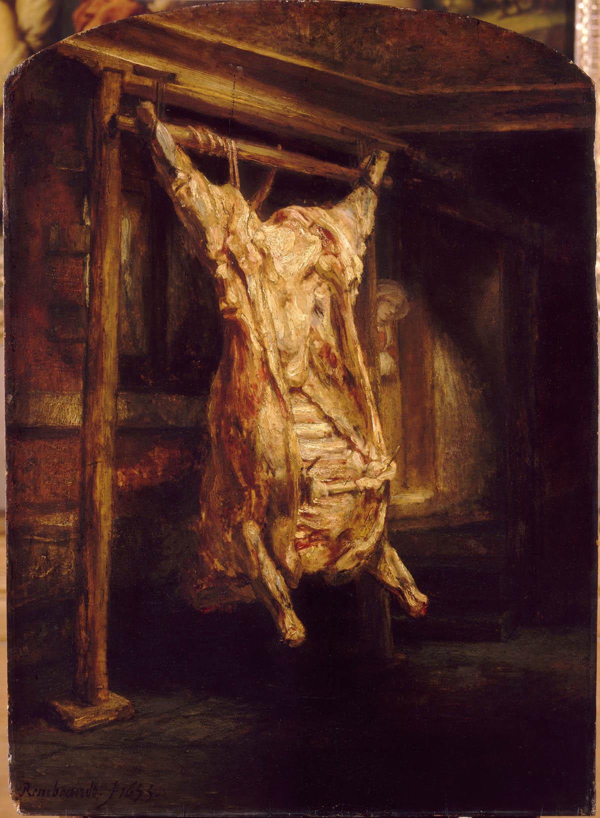 Der geschlachtete Ochse, Harmensz van Rijn Rembrandt © Musée du Louvre