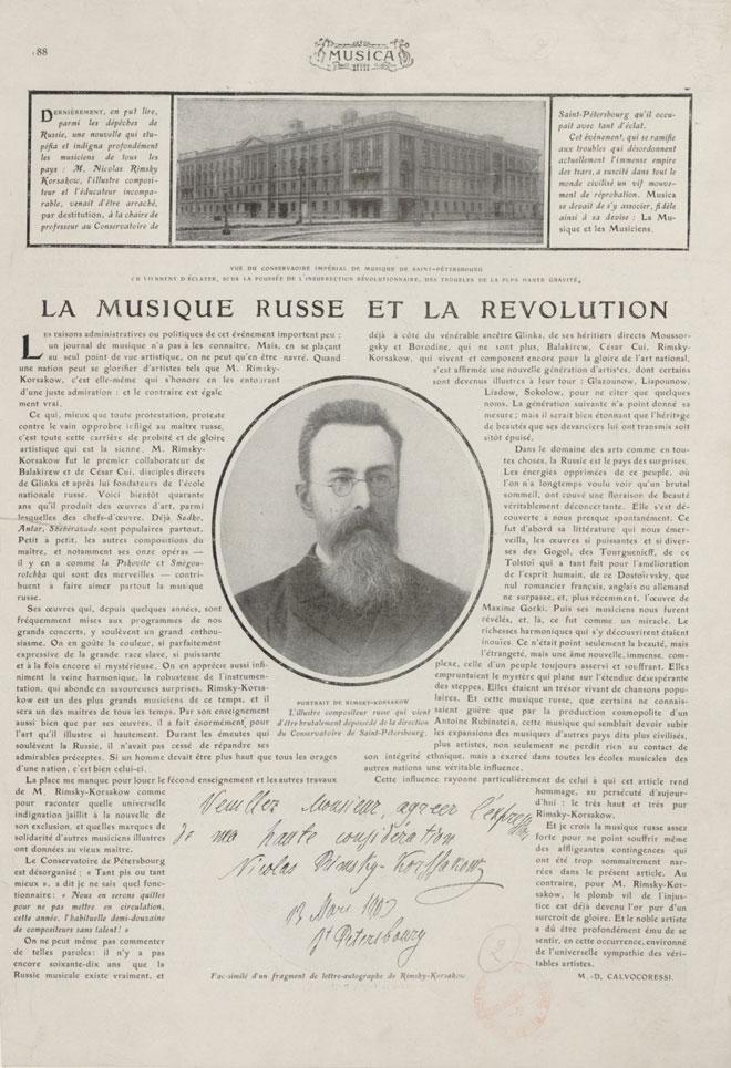 Portrait de Rimski-Korsakov, 1905-1906 © BnF