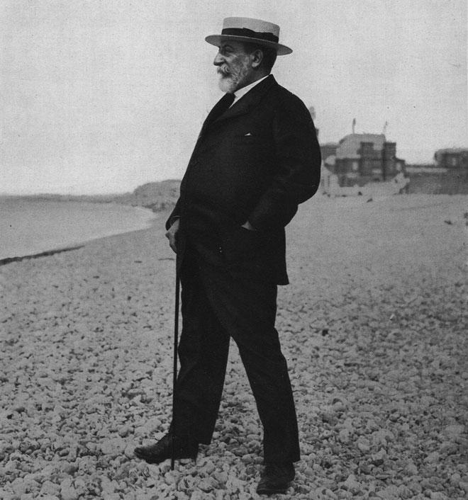 Camille Saint-Saëns, Sur la plage de Dieppe, Revue Musica, numéro 57, 1907 © INHA