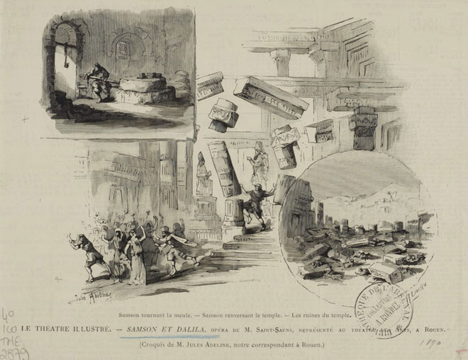 Opéra de Camille Saint-Saëns, Samson et Dalila, illustrations de presse, 1892 © Gallica-BnF