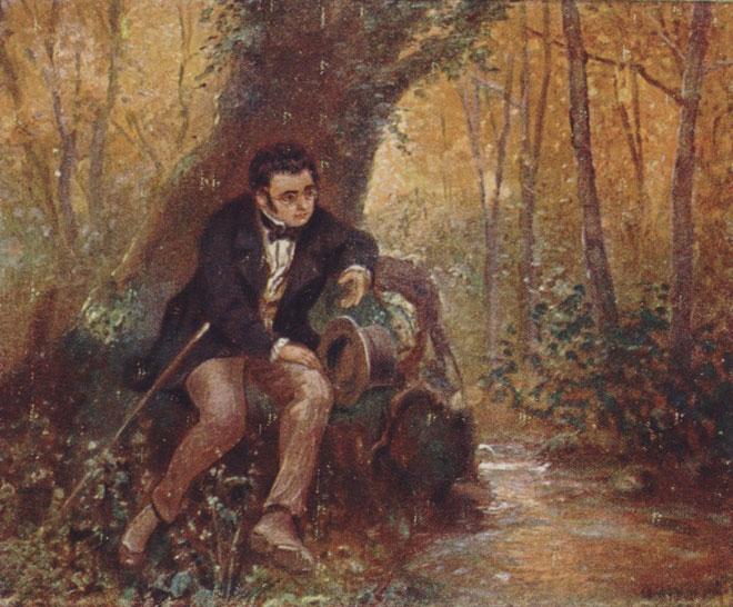 A. Broch, Franz Schubert © Gallica BnF