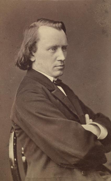 Johannes Brahms, photo de l'Atelier Adèle, 1869. Österreichische Nationalbibliothek