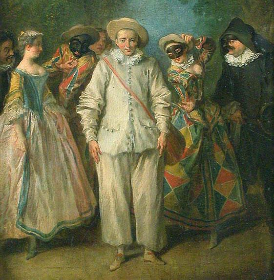Les acteurs de la Comédie italienne, par Nicolas Lancret, entre 1716 et 1736 © Musée du Louvre