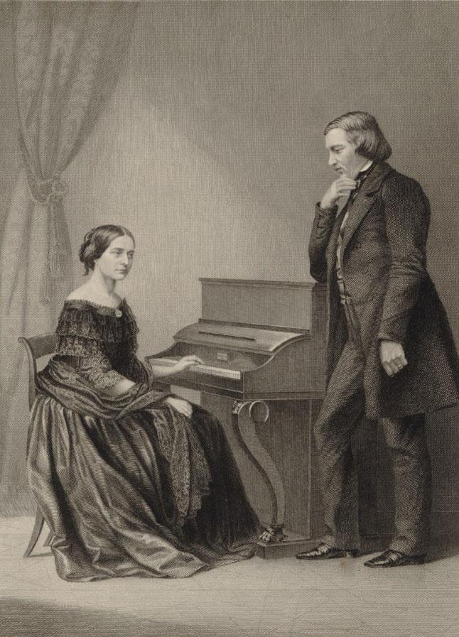 Clara et Robert Schumann © Gallica-BnF