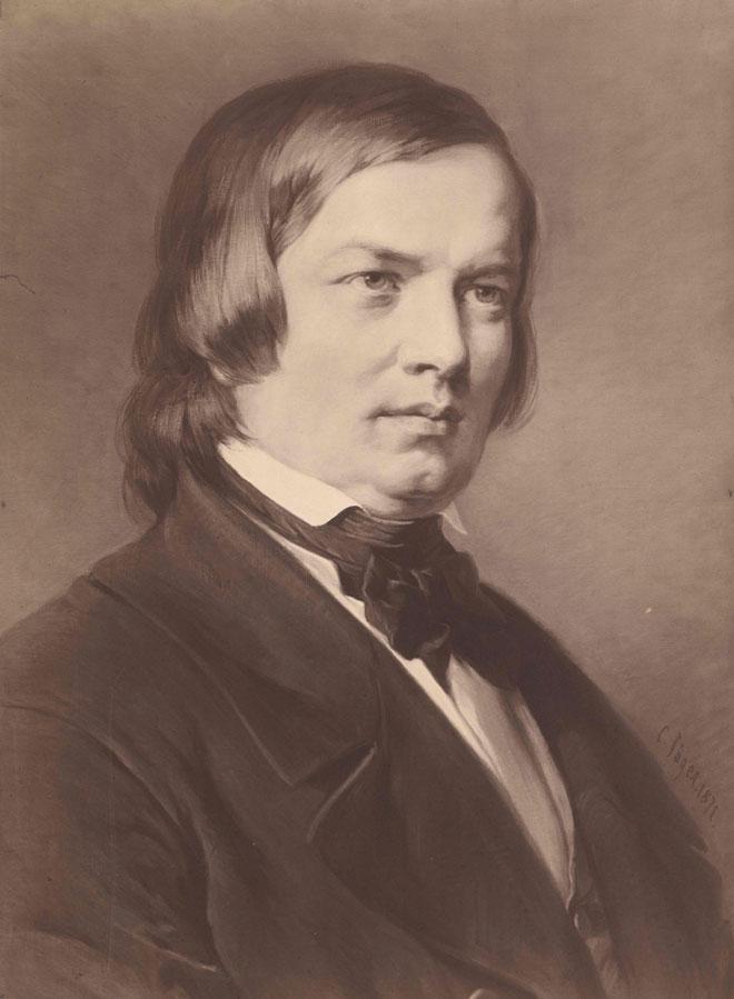 Robert Schumann d'après un tableau de Carl Jäger © Österreichische Nationalbibliothek