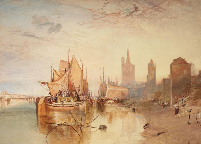 Cologne, the Arrival of a Packet-Boat : Evening, par Joseph Mallord William Turner, 1826 © The Frick Collection, New York