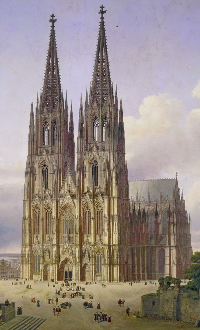 La cathédrale de Cologne, par Carl Hasenpflug, 1834-1836 © Musée de la ville de Cologne