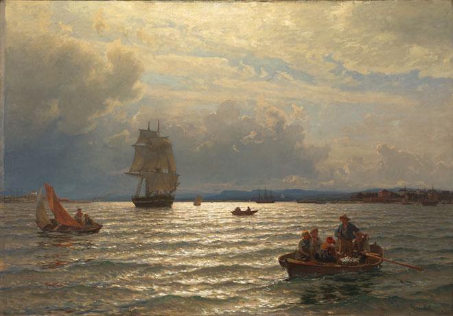 L'Entrée d'Oslo, par Hans Gude, 1874 © Nasjonalmuseet, Oslo