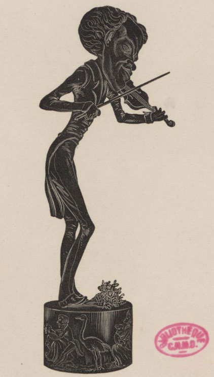 Jean-Pierre Dantan, Caricature de Johann Strauss © Gallica-BnF