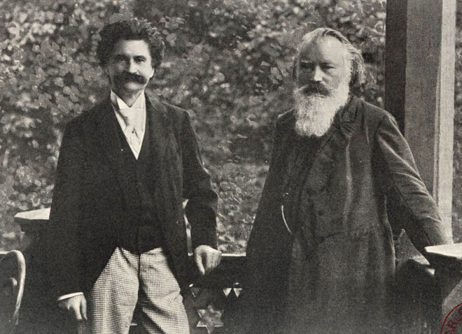 Johann Strauss et Brahms à Bad Ischl en 1894 © Gallica-BnF