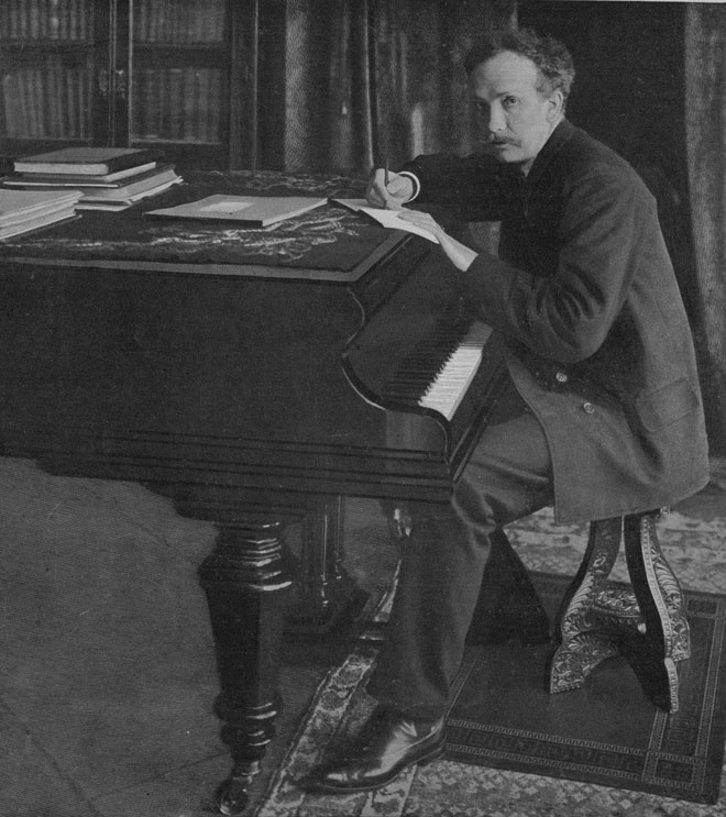 Richard Strauss devant son bureau à Garmisch