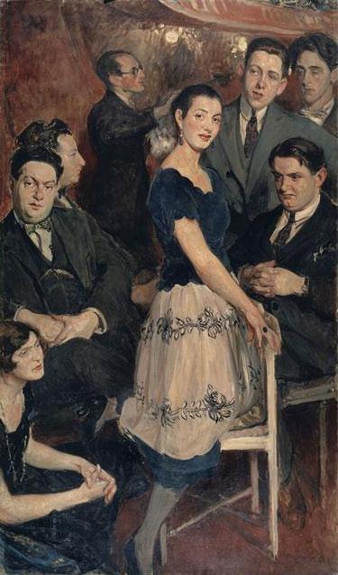 Le groupe des Six, par Jacques-Émile Blanche, 1922 © Musée des beaux-arts de Rouen
