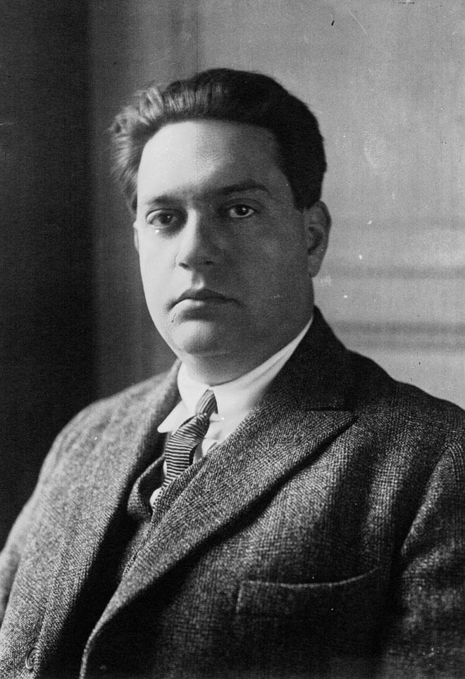 Portrait de Darius Milhaud, photographie de presse / Agence Meurisse, 1923 © Gallica-BnF