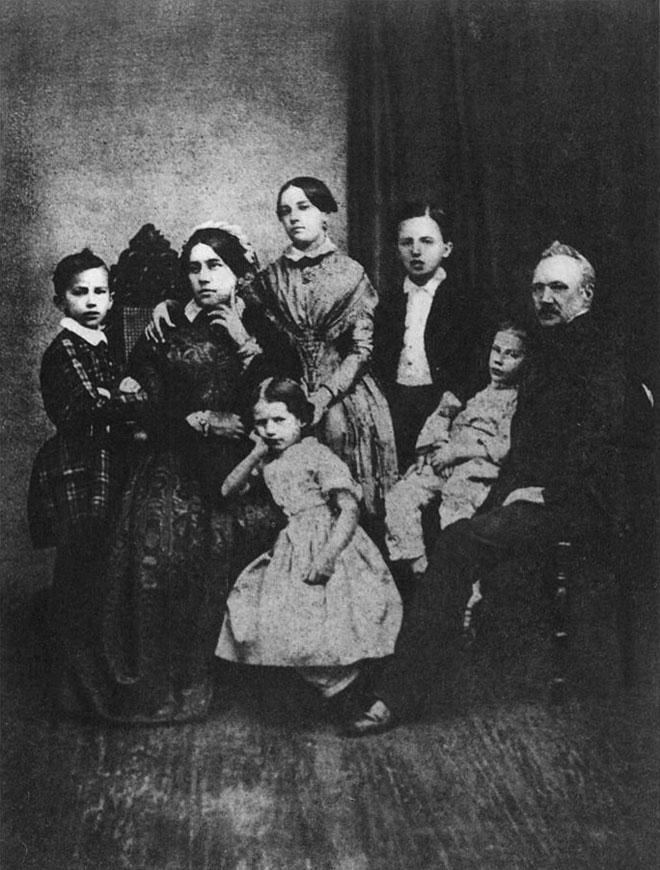 La famille Tchaïkovski en 1848 © D-R