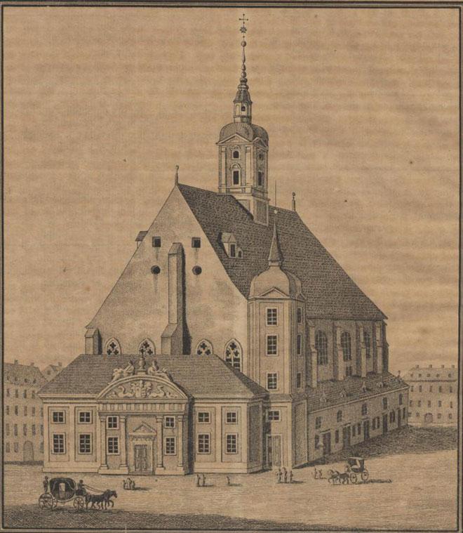 La Neukirche à Leipzig © Sächsische Landesbibliothek-Staats-und Universitätsbibliothek Dresden