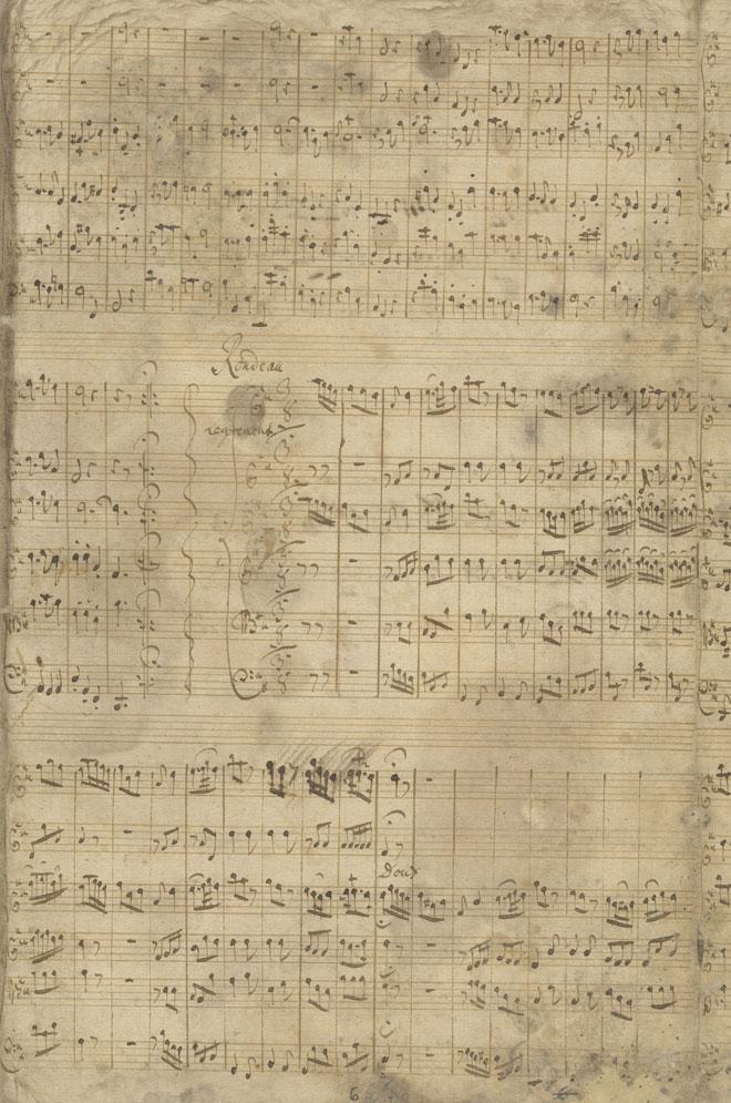 Ouverture, partition, manuscrit autographe de Telemann, 1730 © SLUB-Deutsche Fotothek