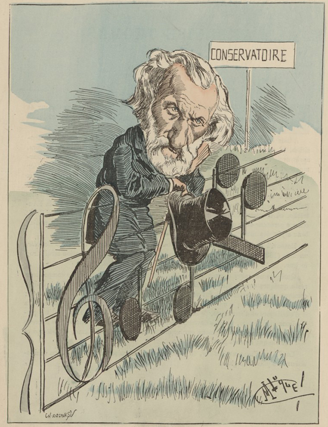 Ambroise Thomas, dessin de Manuel Luque, gravure de Charles Decaux, 1889. Gallica-BnF