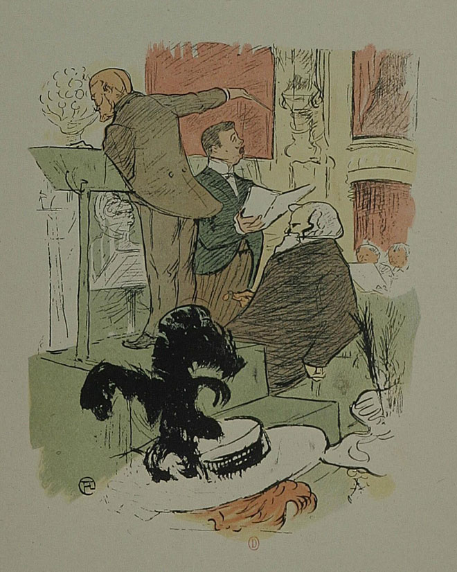 Henri de Toulouse-Lautrec, Répétition de Françoise de Rimini d'Ambroise Thomas, 1896 © INHA, Collections Jacques Doucet