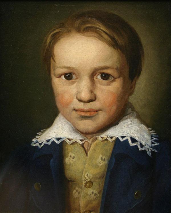 Ludwig van Beethoven enfant, Portrait non-attribué (vers 1793). Kunsthistorisches Museum