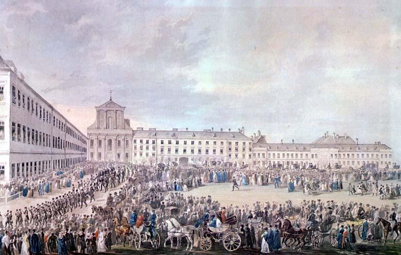 Les funérailles de Beethoven à Vienne le 29 mars 1827, par F. Stober. D.R.