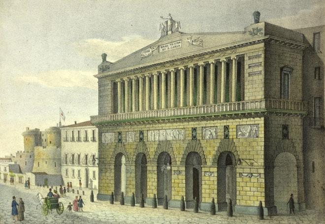 Teatro San Carlo à Naples © Österreichische Nationalbibliothek