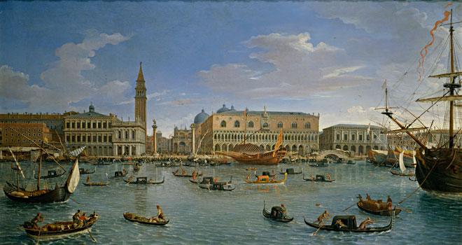 Gaspare Vanvitelli, Vue de Venise depuis l'île San Giorgio, 1697 © Museo nacional del Prado