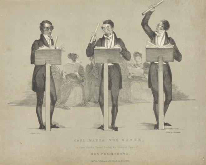 Carl Maria von Weber dirigeant Le Freischütz au Covent Garden Théâtre © NY, Public Library digital collections