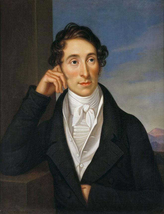 Caroline Bardua, Carl Maria von Weber, 1821 © Bellevue Palace