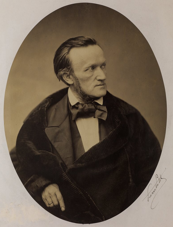 Richard Wagner vers 1860, photo de Pierre Petit, 1860. Gallica-BnF
