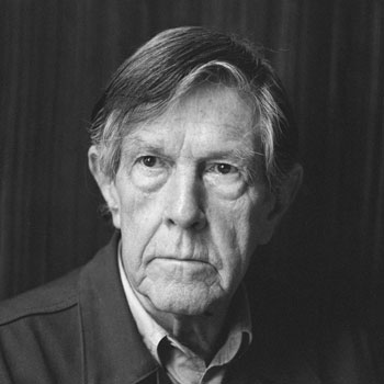 Portrait de John Cage, photographie de Rob Bogaerts, 1988 © National Archives of the Netherlands / Anefo