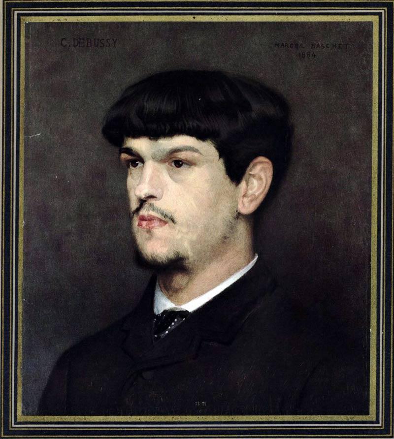 Claude Debussy d'après le portrait de Marcel Baschet 1884 ©bnf