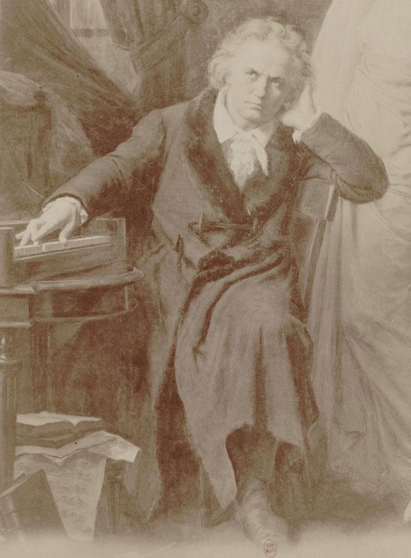 Ludwig van Beethoven, d'après le portrait de Frederic Theodore Lix, 1870. Gallica-BnF