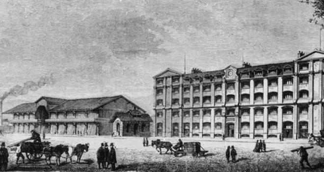 Maison Erard, rue du Mail, rue de Flandre, Paris) 1874? © BNF