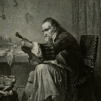 Stradivarius dans son atelier, Jean-Edouard Hamman, XIXe siècle © Jean-Marc Anglès