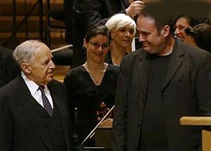 Marc-André Dalbavie et Pierre Boulez