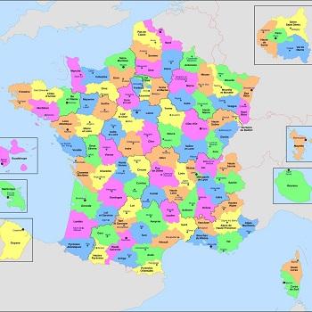Départements métropolitains