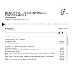 Conférence en ligne : Les Leçons de ténèbres en France à l'époque baroque